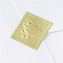 Blank Gold Embossed Rose Seal