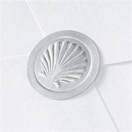 Blank Silver Embossed Shell Seal