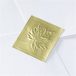 Blank Gold Embossed Leaf Seal