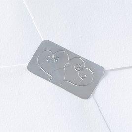Wedding Envelope Seals: Blank Silver Hearts Seal
