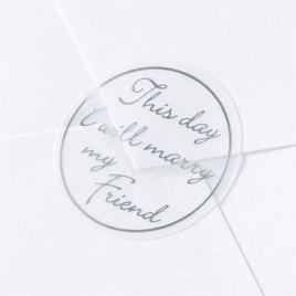 Blank Silver Friend Seal