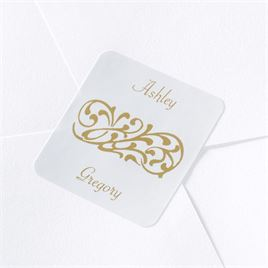 Personalized White Custom Design Seal