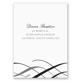Stylish Swirls - Reception Card