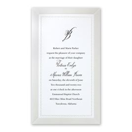 All Buttoned Up - White Invitation