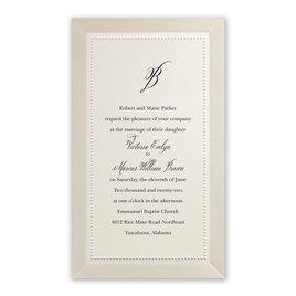 Wedding Invitations: All Buttoned Up - Invitation
