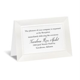 All Buttoned Up - White Reception Card