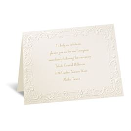 With a Flourish - Ecru Reception Card