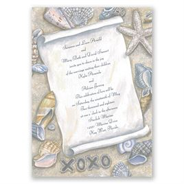 Starfish Wedding Invitations: 