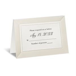 All Buttoned Up - Ecru Response Card and Envelope