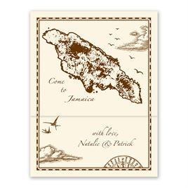 Jamaica Treasure Map Ecru - Z-Fold - Inv