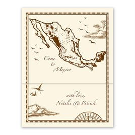 Globe  Map Wedding Invitations: 