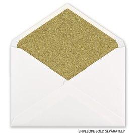 Gold Glitter - Designer Envelope Liner