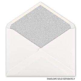 Silver Glitter - Designer Envelope Liner