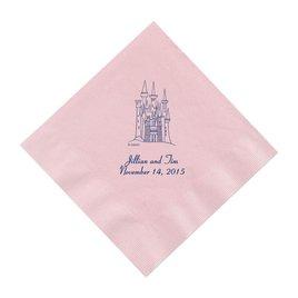 Cinderella - Pastel Pink Beverage  Napkins in Foil