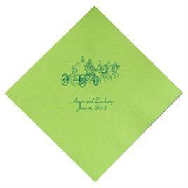 Cinderella - Lime Beverage Napkins in Foil