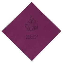 Cinderella - Amethyst Dinner Napkins in Foil