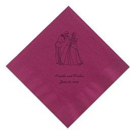 Cinderella - Cranberry Dinner Napkin