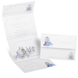 Cinderella disney wedding invitations invitations by dawn for Cinderella invitation to the ball template