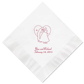 Cinderella - White Beverage Napkins in Foil