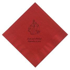 Cinderella - Red Beverage Napkins in Foil