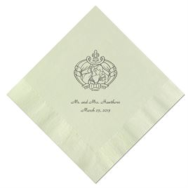 Cinderella - Mint Beverage Napkin in Foil