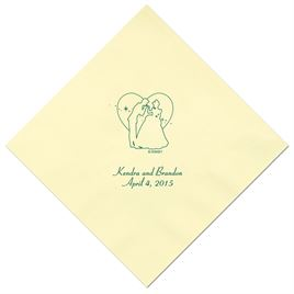 Cinderella - Pastel Yellow Dinner Napkins in Foil