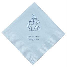 Cinderella - Pastel Blue Dinner Napkins in Foil