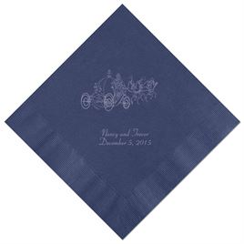 Cinderella - Navy Dinner Napkins in Foil