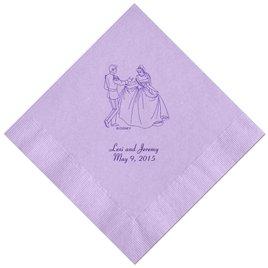 Cinderella - Lavender Dinner Napkins in Foil