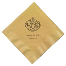 Cinderella - Gold Beverage Napkins in Foil