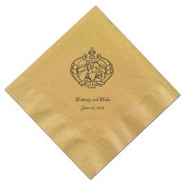 Cinderella - Gold Beverage Napkins in Foil