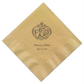 Cinderella - Gold Dinner Napkins in Foil