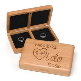 I Do - Wooden Ring Box