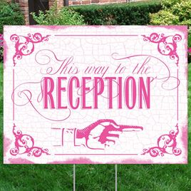 Fuchsia Reception Direction Yard Sign