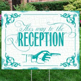 Peacock Reception Direction Yard Sign