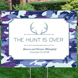 Hunters Choice - Navy - Yard Sign