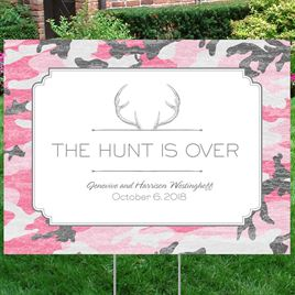 Hunters Choice - Posie Pink - Yard Sign