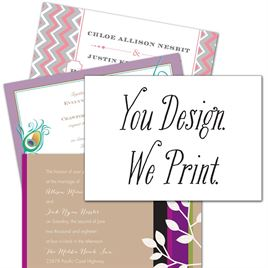 "You Design, We Print - 7"" x 5"" Horizontal - Invitation"
