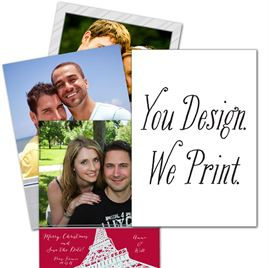 """You Design, We Print - 5"""" x 7"""" Vertical - Holiday Card"""