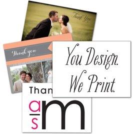 You Design, We Print - Horizontal - Thank You Card