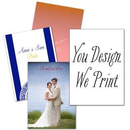 You Design, We Print - Vertical - Thank You Card
