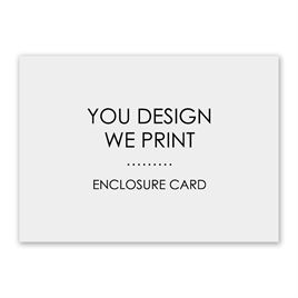 You Design, We Print - Horizontal - Enclosure Card