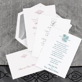 White Wedding Invitations Simple Invites Invitations by Dawn