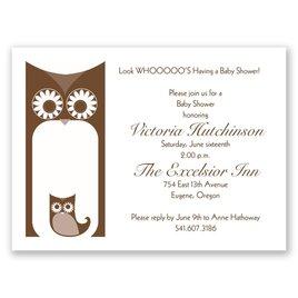 Baby Shower Invitations: Happy Owls Petite Baby Shower Invitation