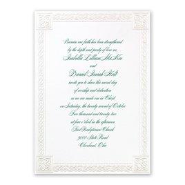 Christian Wedding Invitations: Love Knot Invitation