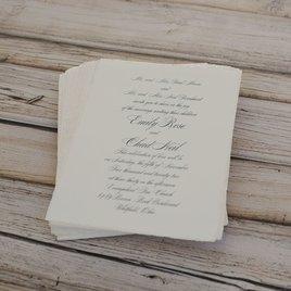 Pearl Trim - Invitation