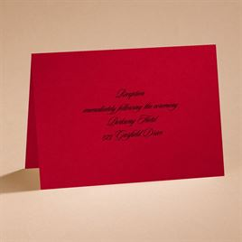 Dramatic Rose - Black and Red - reception card