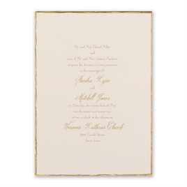 Simple wedding invitations invitations by dawn gold trim invitation stopboris