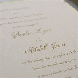 Gold Trim Invitation Invitations By Dawn