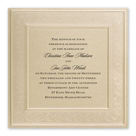 Framed in Luxury Invitation